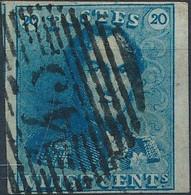 [O SUP] N° 2, Bien Margé Avec Voisin Et Petit Bdf - Obl 'P45' Gand - 1849 Epaulettes