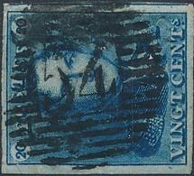 [O SUP] N° 2, Marges énormes Et Obl Centrale 'P54' Hamme - LUXE - Cote: 115€ - 1849 Epaulettes