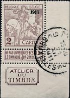 [** SUP] N° 94, 2c+(2c) Brun-lilas, La Bonne Valeur - Cdf Et 'Atelier Du Timbre' - LUXE - Cote: 100€ - 1910-1911 Caritas