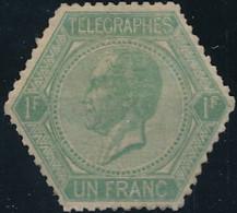 [** B/TB] TG2a, 1F Vert-jaune, Fraîcheur Postale (gomme Brunie Par Endroits) - Excellent Centrage. Rare - Cote: 5900€ - Telegraph