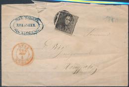 [Document B/TB] N° 1 Sur Lettre De Liège, Le 4 Juin 1850 Vers Houffalie - 1849 Epaulettes