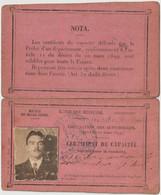Certificat De Capacité Pour La Conduite Automobile à Pétrole (Permis De Conduire) Par Préfecture Alpes Maritimes 1916 - Other