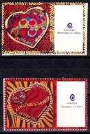 Personnalisé - St Valentin Cœur 2006 - Paire - Vignette Entreprise - Y&T N° 3863A & 3864A - Personalized Stamps
