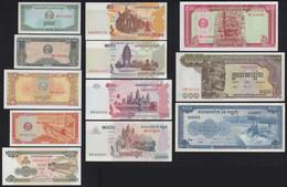 Kambodscha - CAMBODIA 12 Stück Banknoten Aus 1956/2005 AUNC/UNC   (21108 - Other - Asia