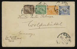 Egypt 1911 Cover To Germany Bearing 4-COLOUR FRANKING, Very Good Condition And Superb Aspect - 1866-1914 Ägypten Khediva