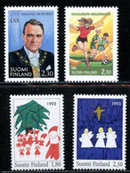 1993 Finland Mixed Issues X 4 MNH - Unused Stamps