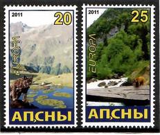 Abkhazia . EUROPA CEPT 2011. Forests (Fauna, Mountains). 2v. - 2011