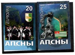 Abkhazia . EUROPA CEPT 2012. National Folk Costumes . Imperf. 2v:20,25 - 2012