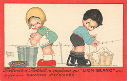 """Béatrice MALLET - CPA PUB - """"FROTTINET"""" - Lessive LION BLANC - TRES BON ETAT - Mallet, B."""