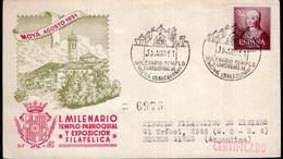 España - 1951 - FDC - Matasello Especial - I. Milenario Templo Parroquial Y Exp.Filatelica - A1RR2 - 1951-60 Cartas