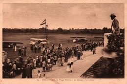 Deauville, La Plage Fleurie - Le Champ D'Aviation - Carte La Cigogne N° 84 - Aeródromos