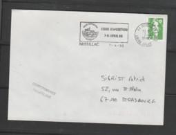 Flamme Dpt 44 : MISSILAC (SCOTEM N° 10543 Du 08/01 => 07/04/1990) : Foire-exposition 7&8 Avril 1990 - Mechanical Postmarks (Advertisement)