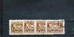 Pologne 1946-50 Yt 115-115B 118 - Segnatasse