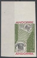 ANDORRE - N°252 ** Non Dentelé - Centenaire De La 1ere Liaison Telephonique - Neufs