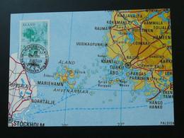 Carte Maximum Card Géographie Carte Map Aland Ref 61691 - Aland