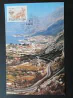 Carte Maximum Card Paysage Route Landscape Road Yougoslavie Ref 61817 - Cartes-maximum