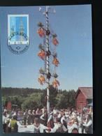 Carte Maximum Card Danse Folklore Aland Ref 61981 - Aland
