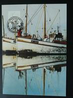 Carte Maximum Card Bateau De Pêche Fishing Ship Aland Ref 61982 - Aland