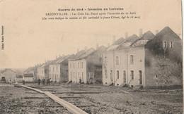 BADONVILLER ( Guerre 1914 ) Les Cités Ed. Fenal Après L'incendie - Other Municipalities