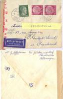 GUERRE 39-45 LETTRE KARLSRUHE BADEN TàD 6.1.43 Pour INTERNÉE à PITHIVIERS RUE LAMARTINE - WW II