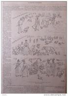 Chiens D'agrément Au Bois De Boulogne - Page Original 1892 - Documentos Históricos