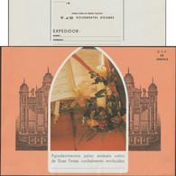 Angola 1973. Télégramme Pour Noël Et Nouvel An. Orgue, Bougie, Anges, Livre Et Partition - Música