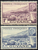 GUYANE  ( POSTE ) : Y&T N°  172/173  TIMBRES  NEUFS  SANS  TRACE  DE  CHARNIERE . A  SAISIR . - Ungebraucht