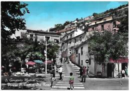 San Gregorio Matese (Caserta). Piazza B. Caso E Via Roma. Pubblicità Coca Cola E Gelati Motta - Lambretta. - Caserta