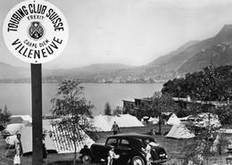 SUISSE VILLENEUVE Camping Du T.C.S Montreux-Chillon - VD Vaud