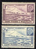 SAINT-PIERRE  ( POSTE ) : Y&T N°  210/211  TIMBRES  NEUFS  SANS  TRACE  DE  CHARNIERE . A  SAISIR . - Unused Stamps