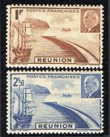 REUNION  ( POSTE ) : Y&T N°  178/179  TIMBRES  NEUFS  SANS  TRACE  DE  CHARNIERE . A  SAISIR . - Unused Stamps