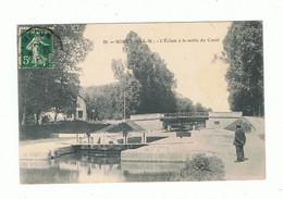 77_MORET_ L'écluse A La Sortie Du Canal - Moret Sur Loing