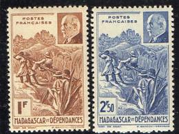 MADAGASCAR  ( POSTE ) : Y&T N°  229/230  TIMBRES  NEUFS  SANS  TRACE  DE  CHARNIERE . A  SAISIR . - Unused Stamps
