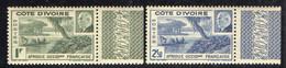 COTE-D IVOIRE  ( POSTE ) : Y&T N°  169/170  TIMBRES  NEUFS  SANS  TRACE  DE  CHARNIERE . A  SAISIR . - Unused Stamps