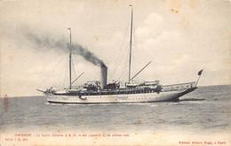Oostende Ostend  Editeur Albert Sugg  Le Yacht Alberta S.M. Le Roi Léopold II En Pleine Mer     M 7504 - Oostende