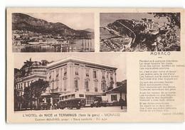 Le Poête Casimir BOJERO Propriétaire De L' Hôtel De Nice Et Terminus Monaco Face à La Gare Retaurant Bus  N397 - Hôtels