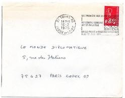 INDRE & LOIRE - Dépt N° 37 = TOURS 02 1975 =  FLAMME à DROITE =  SECAP ' ARPHILA / RENCONTRE MONDIALE ART PHILATELIE ' - Annullamenti Meccanici (pubblicitari)