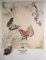 Publicité Illustrée 1947 MAUBOUSSIN Joaillier Paris Rue De Choiseul (bijoux, Tortue, Papillon, Oiseau-lyre, Insecte) - Advertising
