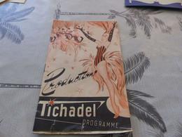 288 - Programme Théâtre, Les Productions TICHADEL, Art Déco - Programmi