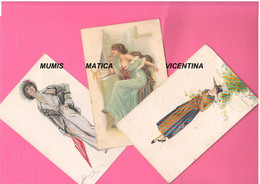 Donnine Women Signorine Donne Girls Ladies 3 Cartoline X Zona Di Guerra 1 WW  1918 Ill. Monastier Marin Mazza - Monestier, C.