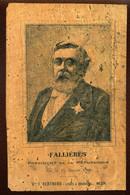 MATIERE - CARTE EN LIEGE - FALLIERES, PRESIDENT DE LA REPUBLIQUE - VOIR ETAT - Autres