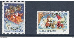 Finland 1991 Christmas, Santa Claus Mi 1159-1160  MNH(**) - Unused Stamps