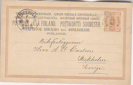 FINLAND. 1879/Brahestad, Ten-penni PS Card/to Sweden. - Covers & Documents