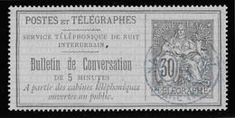 France Téléphone N°8 - Oblitéré - TB - Telegramas Y Teléfonos