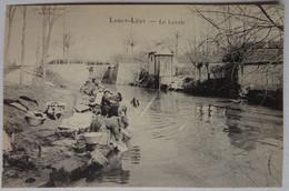 Cpa Lurcy-Lévy, Allier, Le Lavoir, Lurcy-Lévis, Photo Marius Marnas - Autres Communes