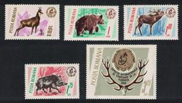 Romania Bear Elk Boar Chamois Hunting Trophies 5v 1965 MNH SG#3332-3336 CV£7.35 - Ongebruikt