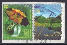 Montenegro / Crna Gora 2010 - Earth Friendly, Nature Protection, Waterfall, Mountains, Flowers, Umbrella - Used - Montenegro