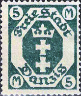 2296 Mi.Nr.124 Freie Stadt Danzig (1923) Freimarke Ungebraucht - Dantzig