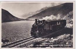 Furka-Oberalp-Dampfzug Am Oberalpsee - Grosssaufnahme - 1937      (P-339-10221) - Treni