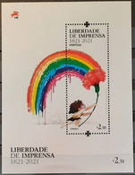 2021 - Portugal - MNH As Scan - Freedom Of Press - Souvenir Sheet Of 1 Stamp - Unused Stamps